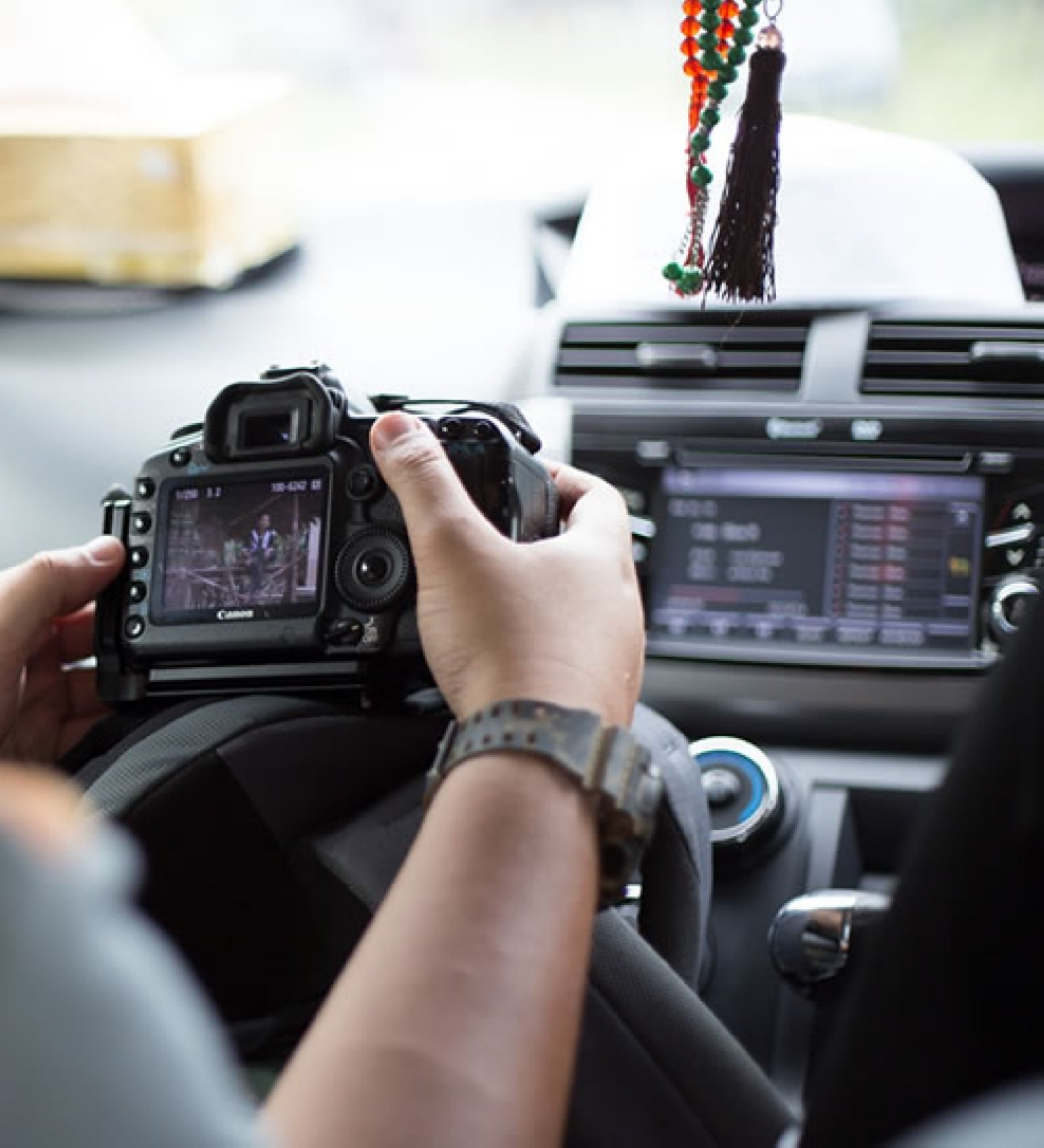 surveillance from car